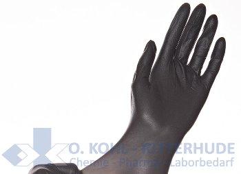 """Latexhandschuhe, schwarz, AQL 1,5, Größe """" S"""""""