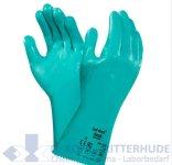 Chemiekalienschutzhandschuh, Nitril,grün