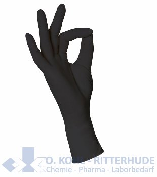Nitril, Handschuhe puderfrei, schwarz