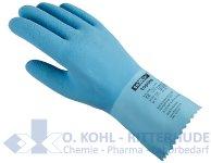 Chemiekalienschutzhandschuh, Latex, hellblau