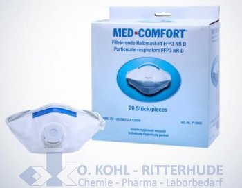 Mundschutz 3-lagig, runde Elastikbänder