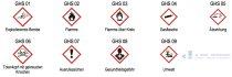 Gefahrenpiktogramme GHS05, Achtung