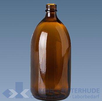 Enghalsflasche, Verpackungs-, Braunglas