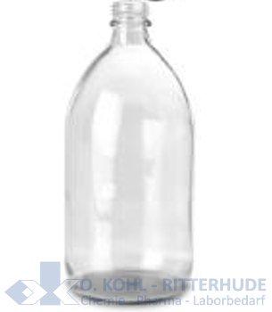 Enghalsflasche, Verpackungs-, Klarglas