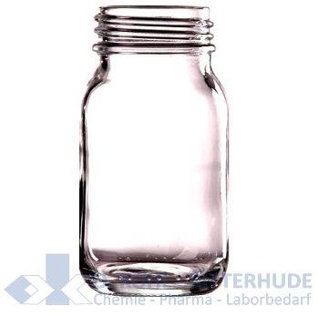 Weithalsflasche, Verpackungs-, Klarglas