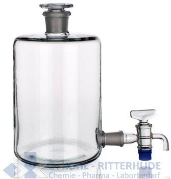 Abklärflasche mit Tubus am Boden
