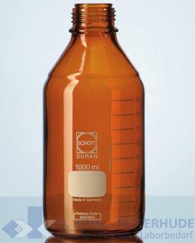 Laborflasche, Duran, braun, ohne Verschluß