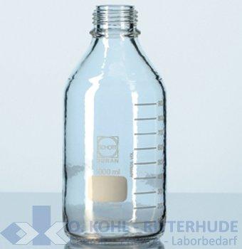 Laborflasche, Duran, kunststoffummantelt