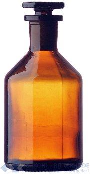 Steilbrustflaschen, enghals, Braunglas