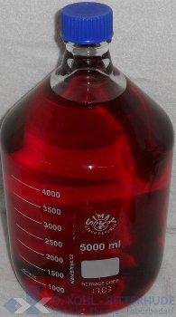 Laborflasche, Boro 3.3, mit Verschluß