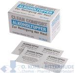 Alkoholtupfer, 6 x 3 cm, mit 70% Isoamylalkohol