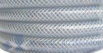 Schlauch, PVC, mit Gewebe, transparent